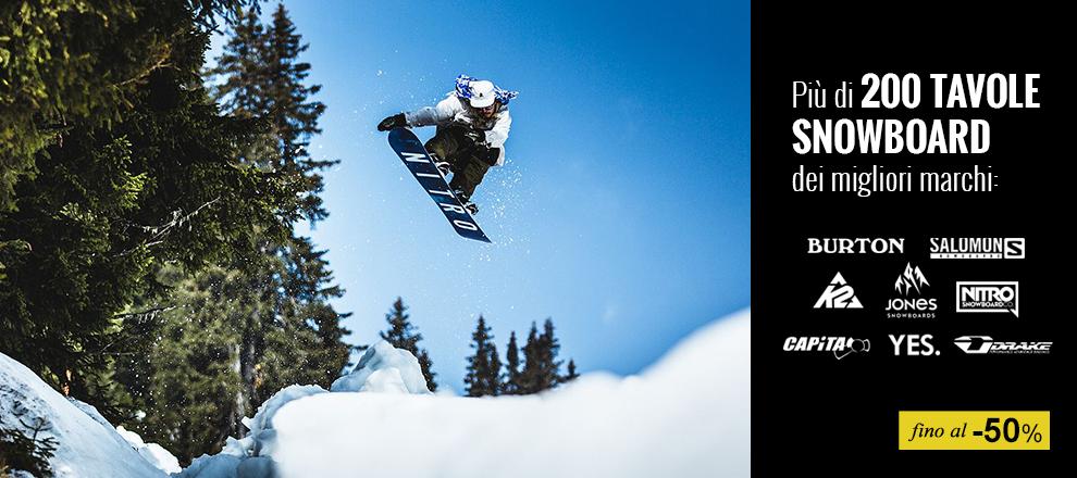 Tavole snowboard dei migliori brand in Maxi Promozione