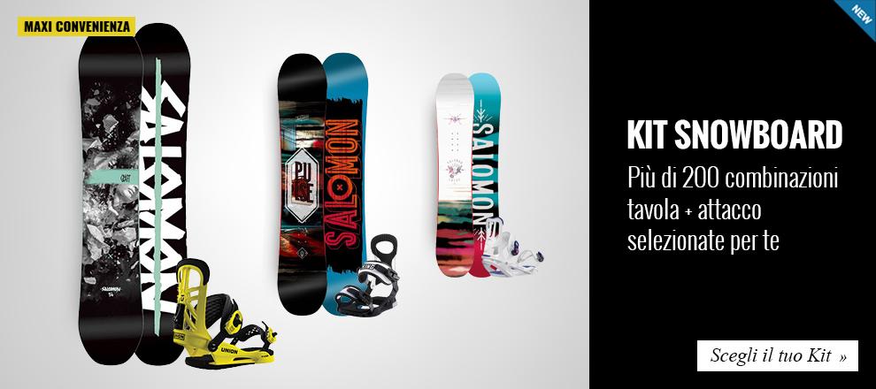 Maxi Convenienza: risparmia con i kit Tavola snowboard + attacco