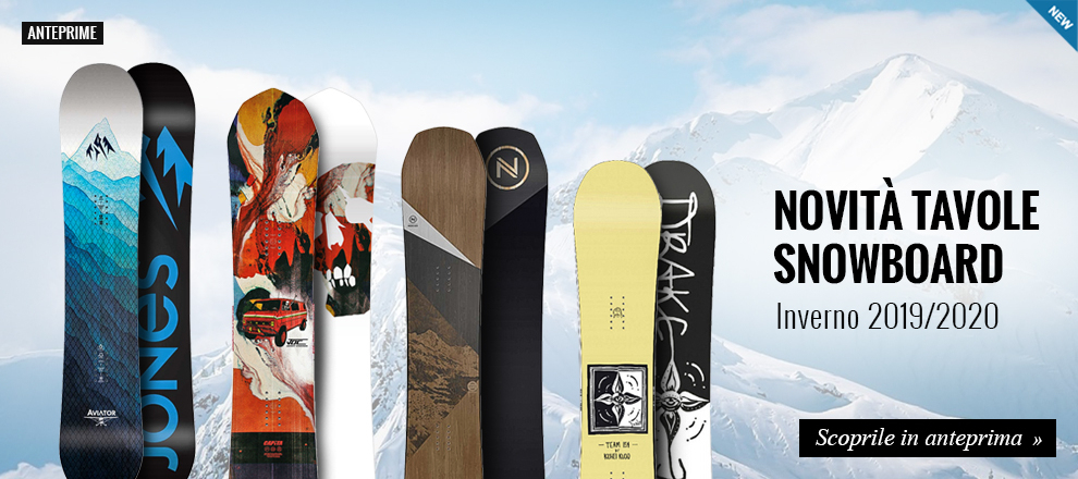 Anteprima tavole snowboard 2019/2020