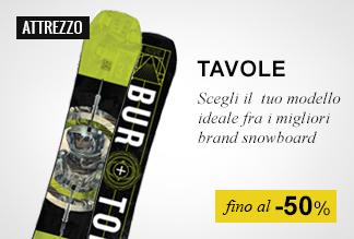 Tavole snowboard fino a -50%