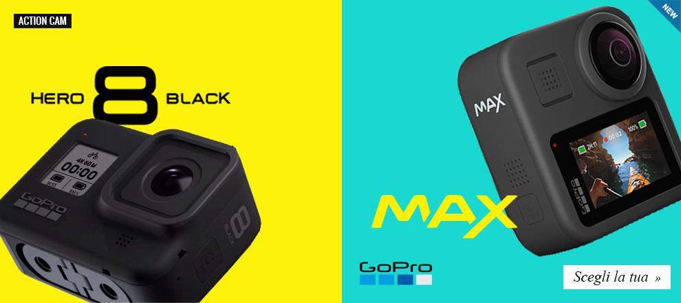 Go Pro Hero 8 e Go Pro Max