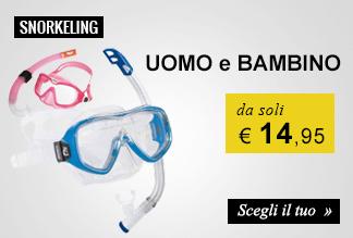 Kit Snorkeling da soli € 14,95