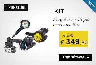 KIT Erogatore, octopus e manometro a soli 349,90 euro