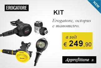 KIT Erogatore, octopus e manometro a soli 249,90 euro
