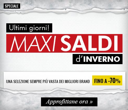 Maxi Saldi D'Inverno fino a -70%: ultimi giorni!