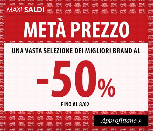 Maxi Saldi D'Inverno, scopri tutti i prodotti Metà Prezzo