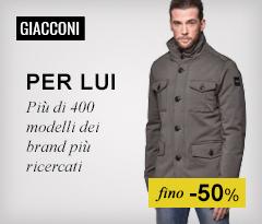Maxi Saldi: Giacconi uomo fino -50%