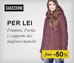 Maxi Saldi: Giacconi donna fino -50%