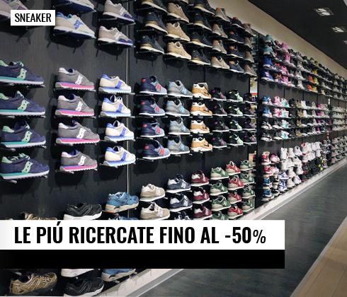 Le Sneaker più ricercate fino al -50%