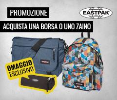 Promozione Eastpak, acquista una borsa o uno zaino della nuova collezione, per te un astuccio in omaggio!