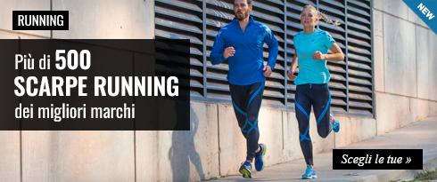 Novità scarpe Running - Più di 500 modelli dei migliori marchi