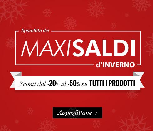 Approfitta dei Maxi Saldi d'Inverno, sconti dal -20% al -50% su tutti i prodotti