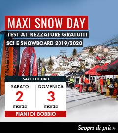Maxi Snow Day Piani di Bobbio test gratuiti sci e snow