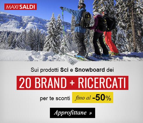 Continuano i Maxi Saldi d'Inverno! Scopri le collezioni sci e snowboard con sconti fino a-50%!