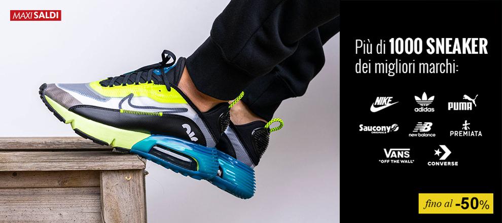 Le sneaker dei migliori brand fino al -50%