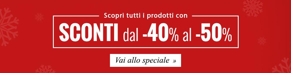 Approfitta dei Maxi Saldi: sconti dal -20% al -50% su tutti i prodotti!
