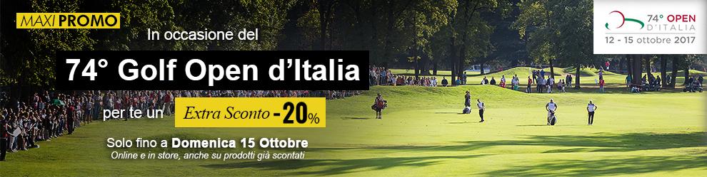 Promozione Extra Sconto -20% sui 20 brand Golf più ricercati
