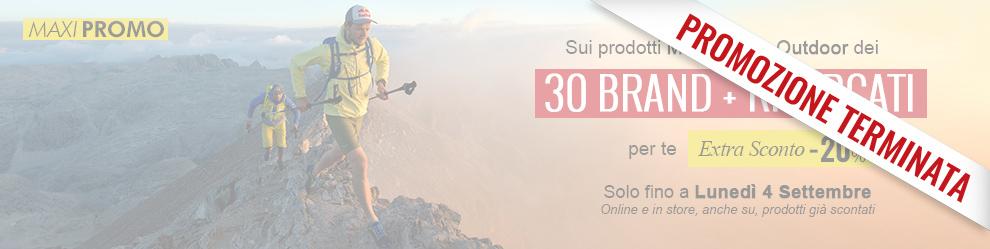 Promozione Extra Sconto -20% sui 30 brand outdoor più ricercati