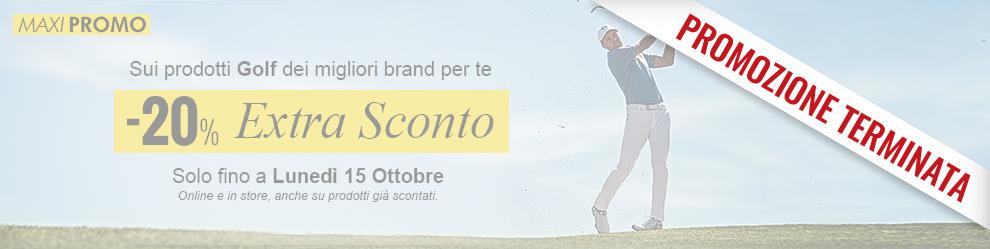 Promozione Extra Sconto -20% sui prodotti Golf più ricercati