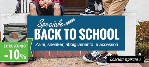 Speciale Back To School: Approfitta dell'Extra Sconto -10%