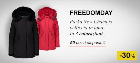 Piumino New Chamois pelliccia in tono Freedomday Donna