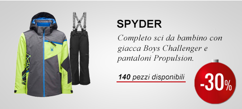 Completo sci Spyder -30%