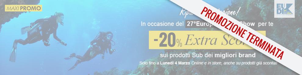 Promozione Extra Sconto -20% sui prodotti sub dei migliori brand