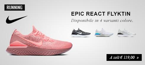 Nike Epic React Flyknit 2 a soli € 199,00