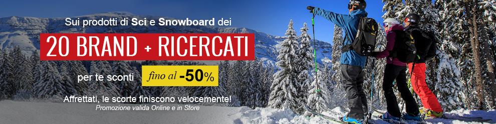 I prodotti sci e snowboard dei 10 brand più ricercati, fino a-50%!