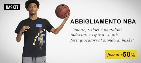 Abbigliamento Basket NBA fino al -50%