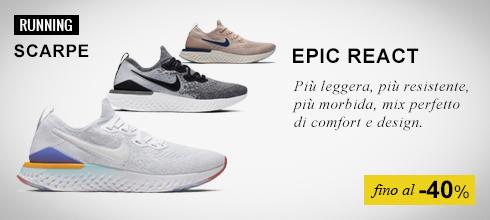 Nike Epic React fino al -50%