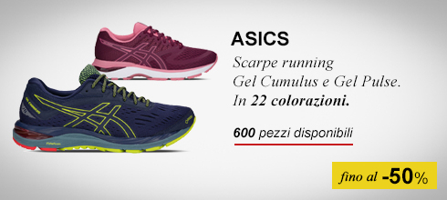 Scarpe running Asics fino al -50%