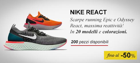Scarpe running Nike React fino a -50%