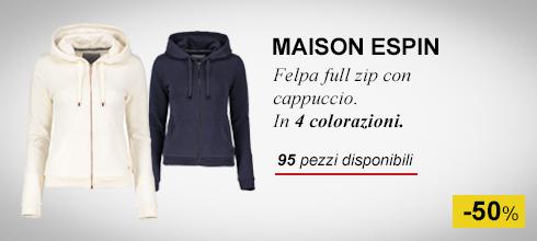 Maison Espin felpa full zip con cappuccio -50%