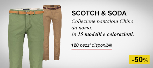Pantaloni Chino uomo scotch & soda -50%