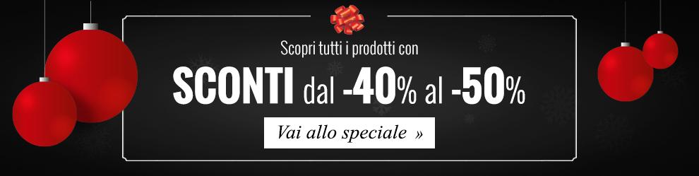 Reparto Speciale Black Friday -40% e -50%