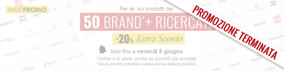 Promozione Extra Sconto -20% sui prodotti dei 30 brand più ricercati