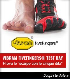Partecipa ai Vibram FiveFingers® Test Day e prova le scarpe con le 5 dita