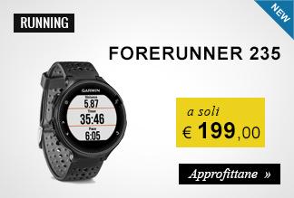 Garmin Forerunner 235,00 euro a soli 199,00 euro