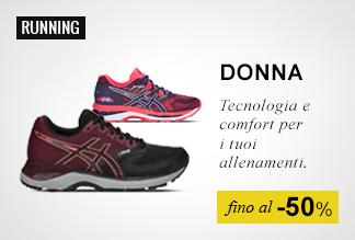 Scarpe running Donna fino al -50%