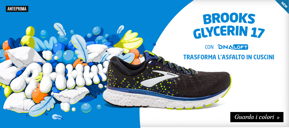 reputable site d7be7 28ee8 Scarpe running Brooks Glycerin 17 in anteprima!