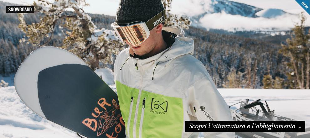 Nuova Collezione Burton Snowboard Attrezzatura e Abbigliamento