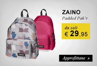 Zaino Estpak Padded Pak'r a soli €29,95