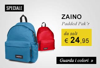 Zaino Estpak Padded Pak'r a soli €24,95