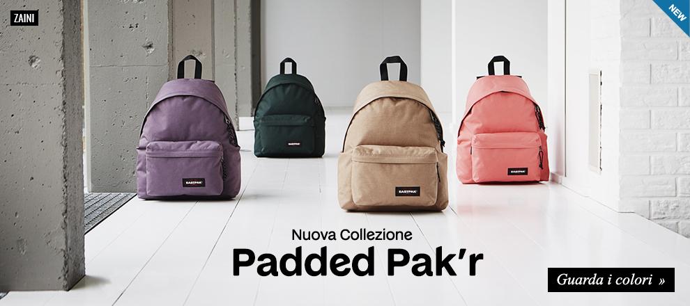 Nuova collezione zaini Eastpak Padded Pak'r 2017/18