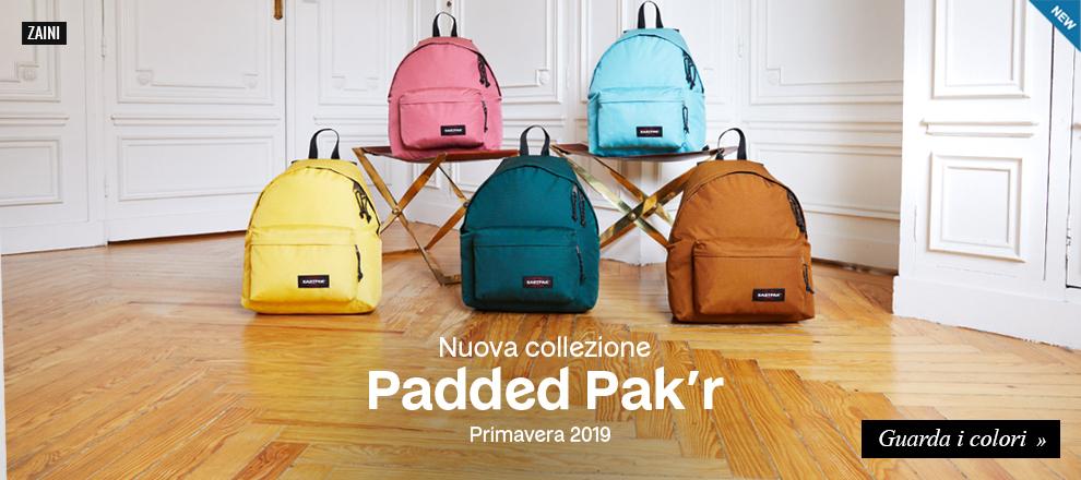 Nuova collezione zaini Eastpak Padded Pak'r 2019/20