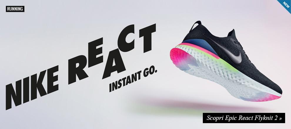 Nuova collezione Nike Epic React Flyknit 2