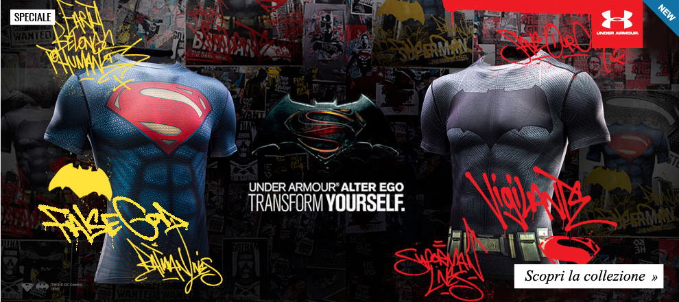 Under Armour collezione Alter Ego 2016