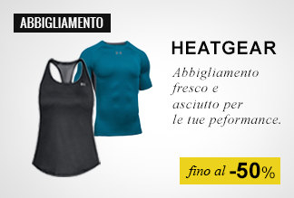 Speciale Under Armour Heatgear fino al -50%;