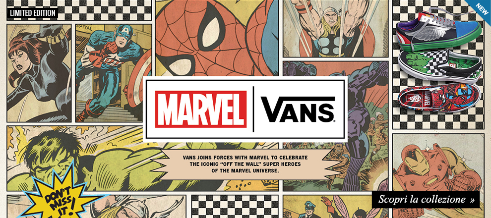 Limited Edition: Speciale Vans X Marvel